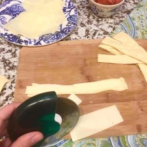 04 Slice Cheese Into Strips