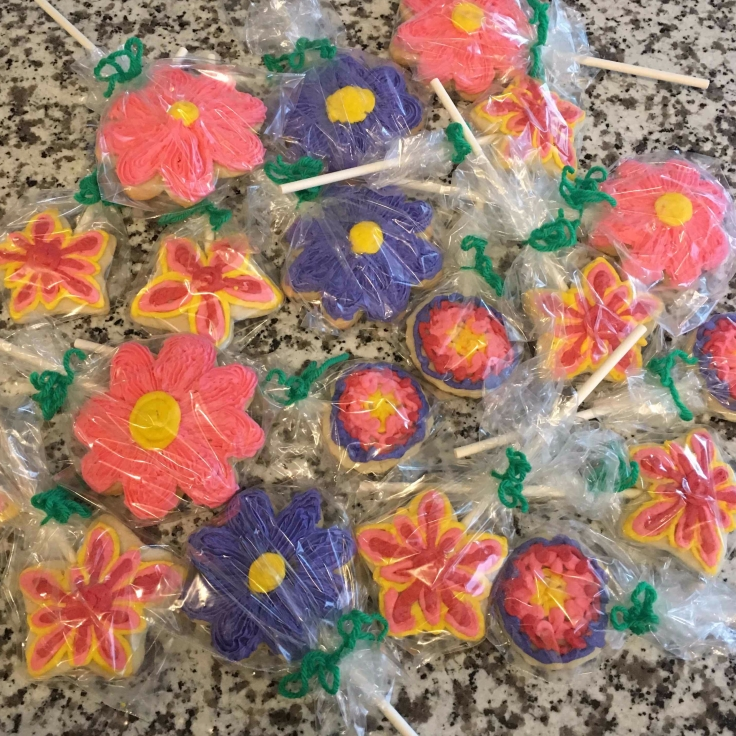 Bagged Flower Cookies