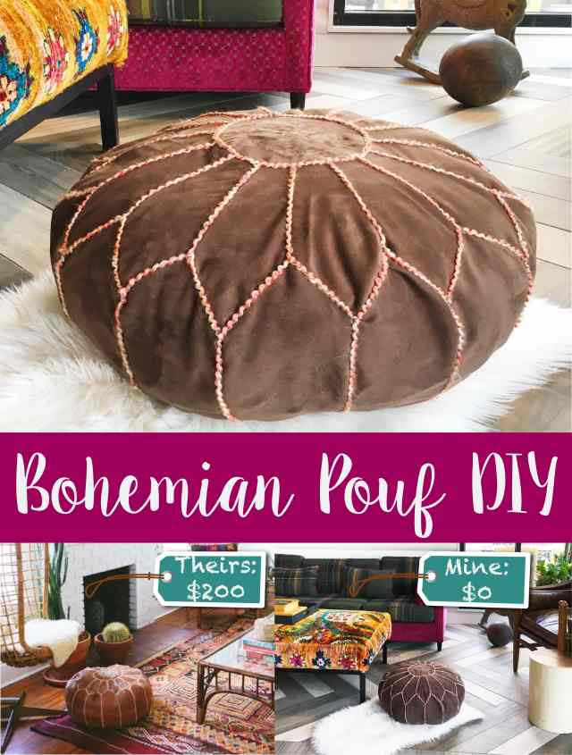 Bohemian Pouf DIY – A Gypsy Life For Me