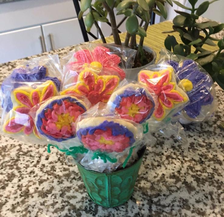 Flower Cookies in Planter