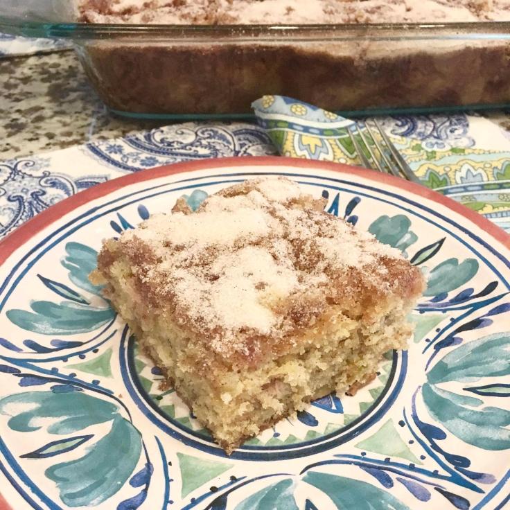 Rhubarb Cake Closeup