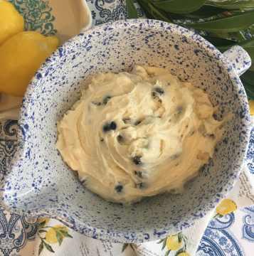 Sunrise Lemon Blueberry Cake Batter
