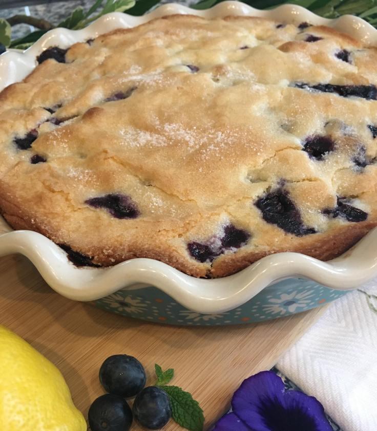 Sunrise Lemon Blueberry Cake Close Up