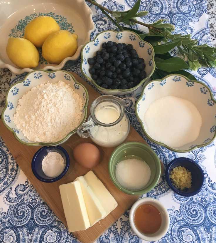 Sunrise Lemon Blueberry Cake Ingredients