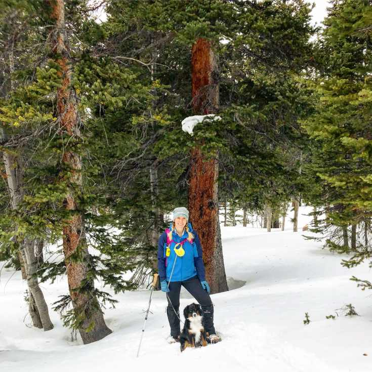 09 Trail - Snowshoes and Freya