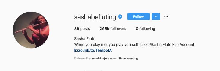 Sasha's Instagram